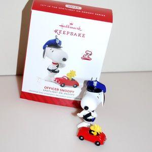 Officer Snoopy Peanuts Hallmark Christmas Ornament